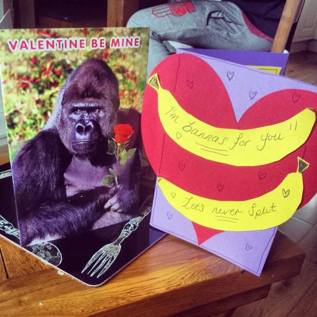 homemade valentines card