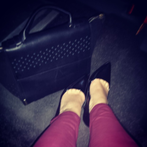 zara handbag leather trousers patent heels