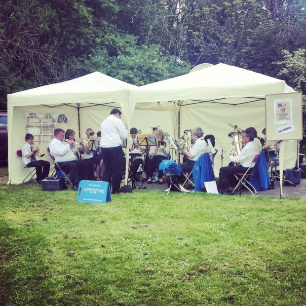 Brass Band at Village Fete
