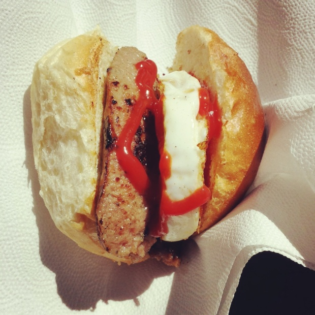 sausage-and-egg-bap-with-ketchup