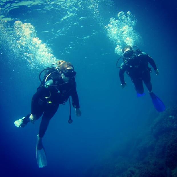 two-scuba-divers