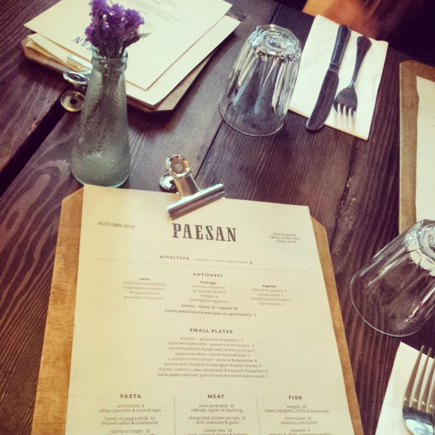 Paesan-menu