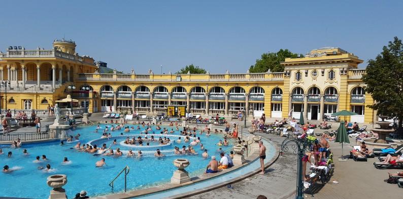Budapest day two szechenyi thermal baths burgers ruin for A list salon budapest