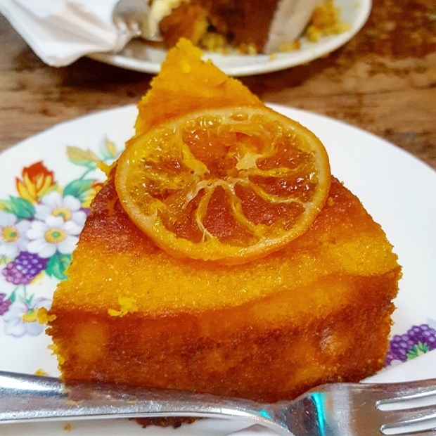 Orange and Polenta cake from canvas and cream