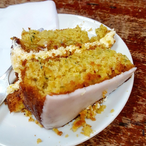 Courgette & lemon drizzle cake from canvas & cream